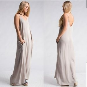 COMING SOON! Silver Maxi Dress with pockets